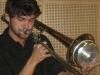 Besuche von Musikern mit ihren Instrumenten (Panflöte, Geige, Kontrabass, Schlagwerk, Posaune)